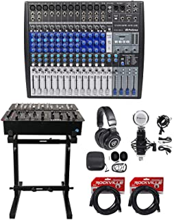 Presonus StudioLive AR16 18-Ch USB Live Sound/Studio Mixer+Headphones+Stand+Mic
