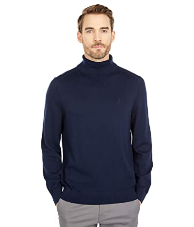 Nautica Navtech Knit Turtleneck Sweater (Navy) Men