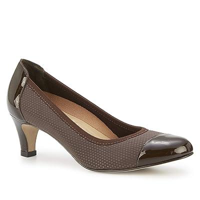 Walking Cradles Joanna (Brown Jazz Fabric/Patent) Women