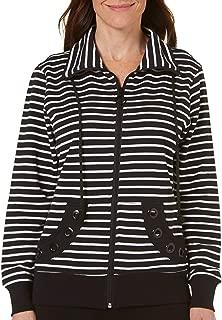 Womens Striped Grommet Jacket 16W Short