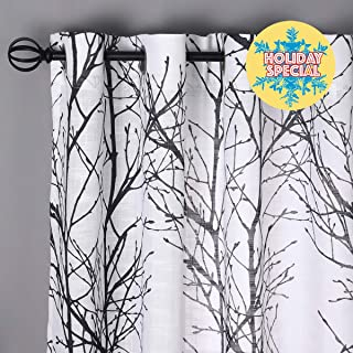 Best long black and white curtains Reviews