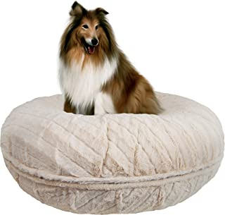 Bessie and Barnie Signature Natural Beauty Extra Plush Faux Fur Bagel Pet / Dog Bed (Multiple Sizes)