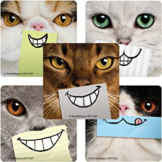 Dental Cat Smiles Stickers - Prizes 100 per Pack