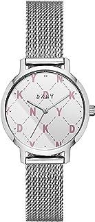 DKNY - Reloj de cuarzo para mujer, diseño modernista, acero