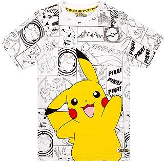 Pokemon Childrens/Boys Official Character Panel Design T-Shirt