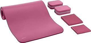 AmazonBasics 1/2-Inch Thick Yoga Mat 6 Piece Set