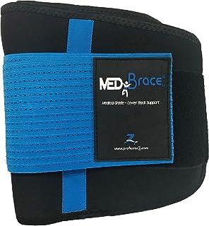 Back Support Brace, Lower Lumbar Belt MEDiBrace II (Medical Grade) Pain & Discomfort Relief from Sciatica, Backache, Slipp...