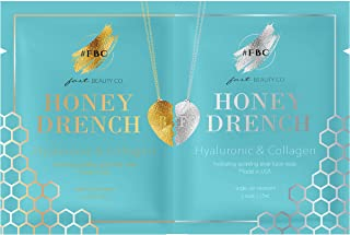 Fast Beauty Co. BFF Honey Drench Hydrating Face Masks With Hyaluronic & Collagen, 2 Units