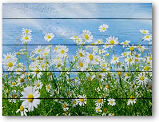 Plant Flowers Canvas Wall Art,Pure and Fresh and Beautiful Wood Background Picture Wall Art for Living Room, Wall Art Decorative