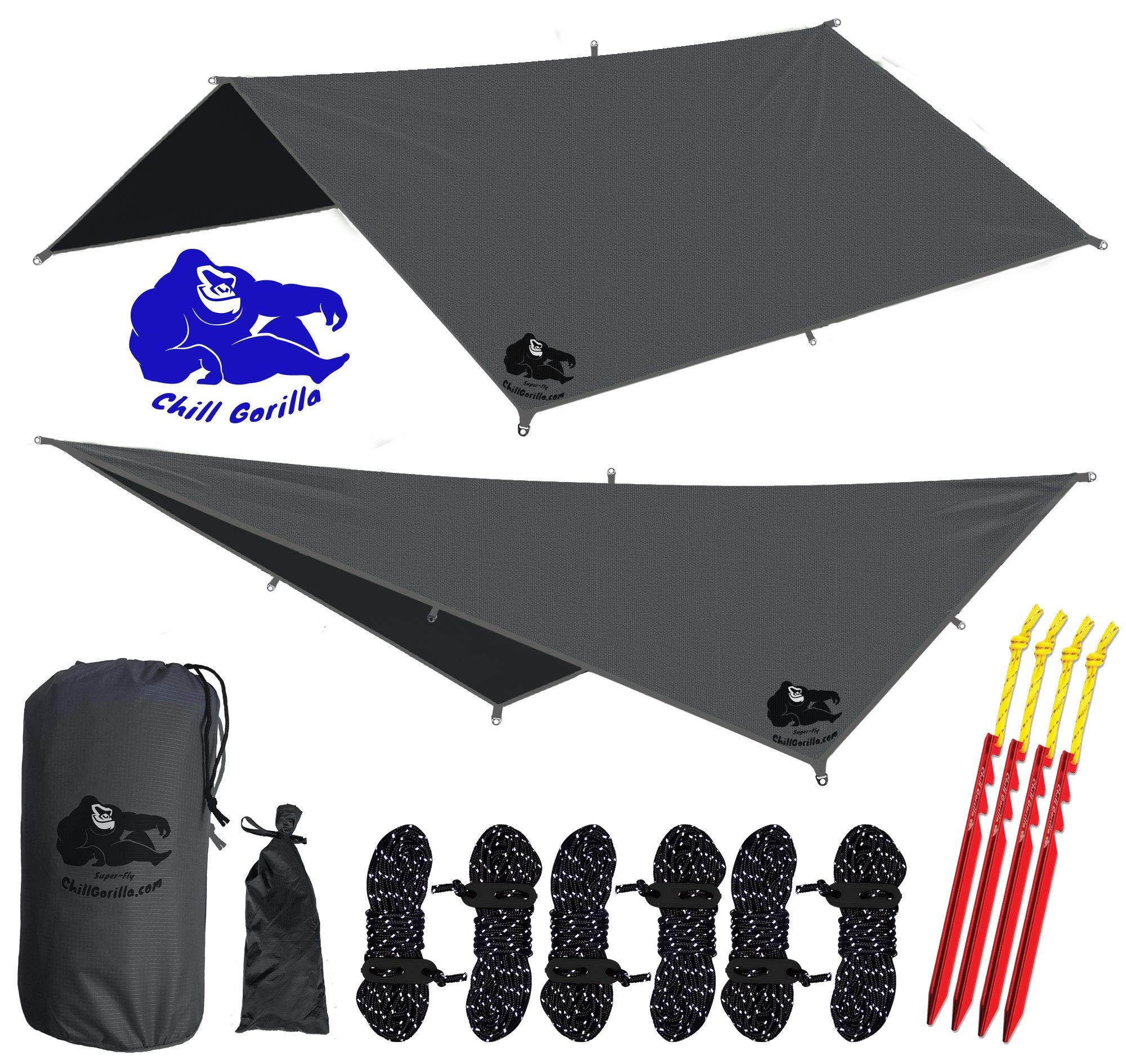 Chill Gorilla 10x10 Hammock Waterproof Rain Fly Tent Tarp 170  Centerline. Ripstop Nylon u0026  sc 1 st  Amazon.com & Tarp Tents: Amazon.com