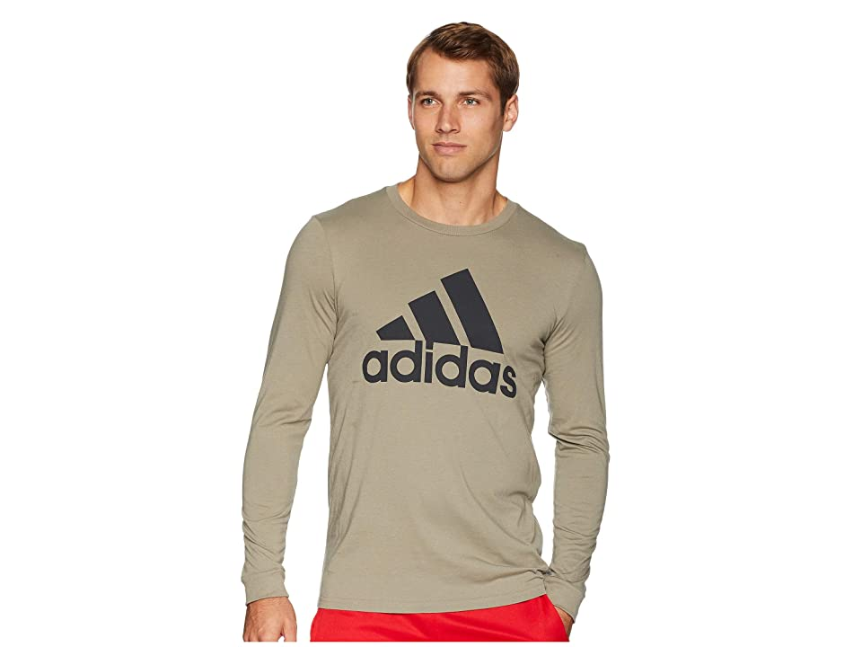 adidas Badge of Sport Classic Long Sleeve Tee (Trace Cargo/Carbon) Men