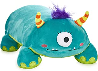 """MEMORY MATES Tasha The One-Eyed Monster Memory Foam Pillow Plush with Kid's Diary That Stores in Belly Pocket, 15"""" Stuffed Animal, 6"""