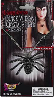 Costume Culture Rubies Deluxe Widow Necklace, Black