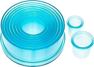 Ateco 5757 Plain Edge Round Cutter Set in Graduated Sizes, Durable, Food-Safe Plastic, 9 Pc Set