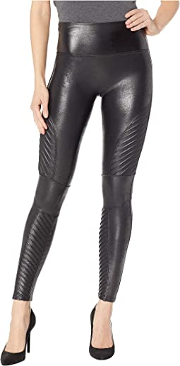 Faux Leather Leggings Moto Petite