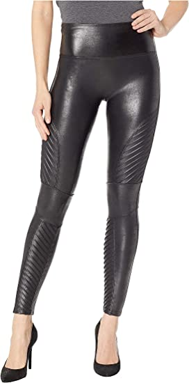 c82142486bbbc0 Spanx Faux Leather Pebbled Leggings at Zappos.com