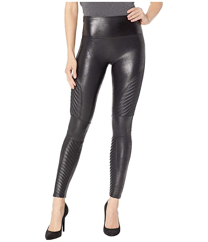 1803abdc5f0c6 Spanx Faux Leather Leggings Moto Petite at Zappos.com