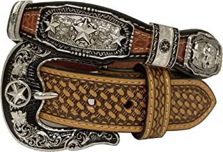 d770bf987 West Star Silver Crocodile Stylish Genuine Leather Cowboy Pattern Emboss 1.5  Inches Width Belt