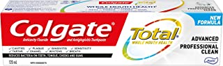 Colgate TOTAL ADVANCED Professional Clean Toothpaste, 120 Milliliters