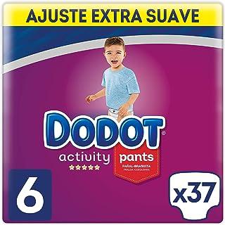 Dodot Activity - Pants Pañal-Braguita Talla 6, Fácil de Cambiar con Canales de Aire, 37 Pañales, 15+ kg
