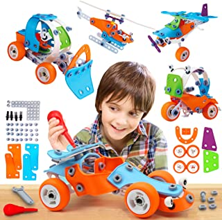 132 PCS STEM Learning Toys - Educational Engineering and DIY STEM Construction Kit - Best Building Set for 6 7 8 9 10+ Yea...