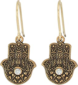 Hand of Fatima Hook Earrings