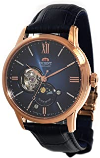 Orient Sun & Moon Limited Edition Open Heart Midnight Blue Rose Gold ...