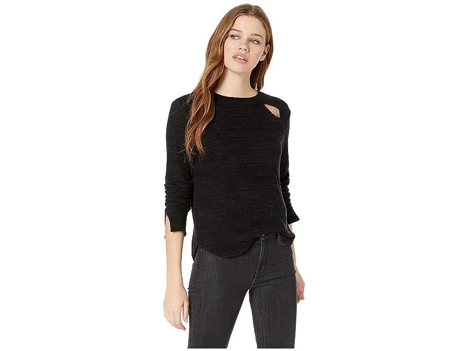 LNA Range Slub Sweater Top (Black) Women