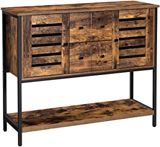 VASAGLE Lowell Storage Cabinet, Floor Cabinet and Sideboard with 2 Drawers, 2 Cupboards, and Shelf, for Living Room, Kitch...