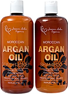 Argan Shampoo And Conditioner Sulfate Free- Joanne Arden Argan Oil Shampoo Conditioner Set Natural Shampoo for Color Treated Hair.Moisturizing Shampoo for Women & Men Hair Loss Shampoo.26.5 oz