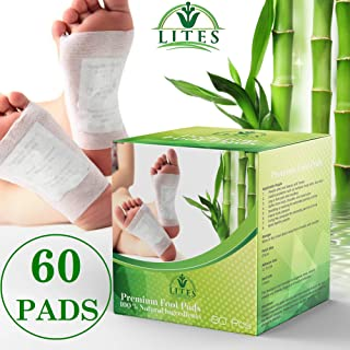 LITES Foot Pads - (60pcs) Premium Foot Pad, Relieve Stress | Organic & Natural Foot Pad | Sleep Better