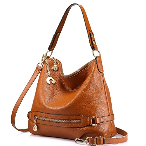 Genuine Leather Handbags for Women Large Designer Ladies Shoulder Bag Bucket  Style e49d5c6be66fa