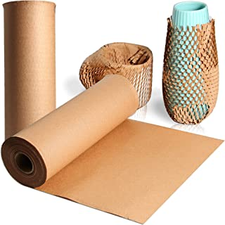 Honeycomb Cushioning Wrap, Bilinavy 12 inches x 131 feet Kraft Packing Paper for Moving Boxes, Eco-Friendly Alternative to...