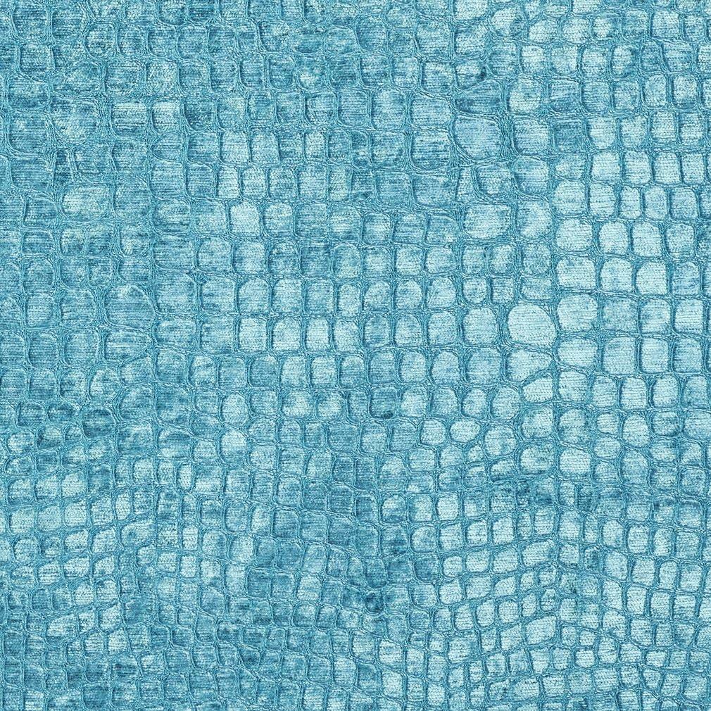 Credence A0151M Aqua Turquoise Textured Alligator Woven Upho half Shiny Velvet