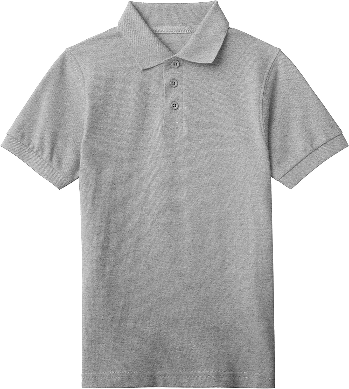 Hat and Beyond Kids Pique Polo Shirt Short Sleeve Solid Cotton Regular Fit School Uniform