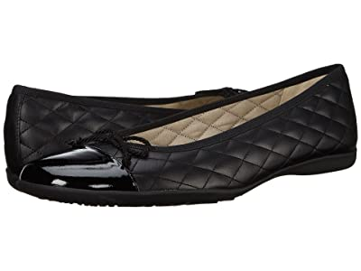 French Sole PassportR Flat (Black Patent/Black Leather) Women