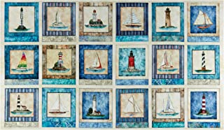 Fabric & Fabric QT s Smooth Sailing Nautical 24'' Patches Cream