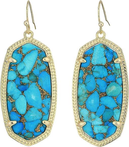 Gold/Bronze Veined Turquoise Magnesite