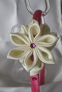 Cerchietto per capelli con fiore Kanzashi