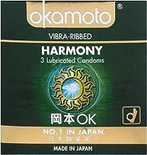 Okamoto Harmony Vibra Ribbed Condoms, 3 ct