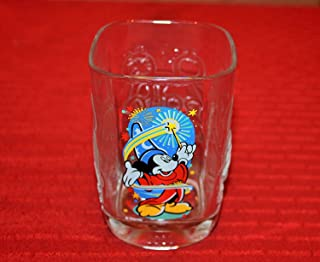 Mcdonalds Disney World Square Drinking Glass, 2000 Celebration, Mickey As the Sorcerer