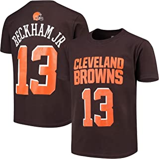Odell Beckham Jr Cleveland Browns Brown Youth 8-20 Mainliner Name & Number Player T-Shirt