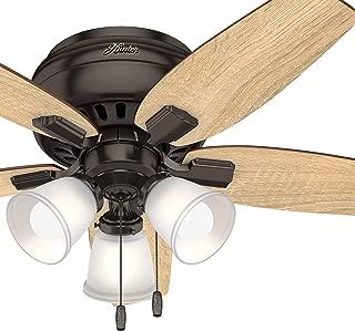 Hunter Fan 42 inch Casual Premier Bronze Indoor Ceiling Fan With LED Light Kit (Renewed)