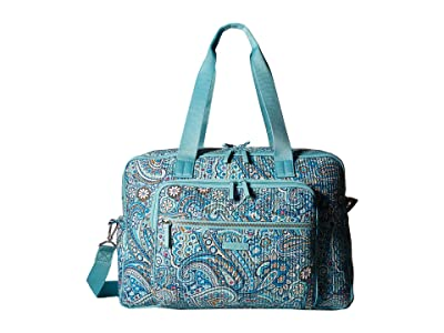 Vera Bradley Iconic Deluxe Weekender Travel Bag (Daisy Dot Paisley) Bags