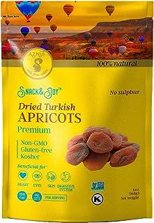 AZNUT Turkish Dried Apricots, Unsulphured, No Sugar Added, 100% Natural Premium Quality, NON-GMO Project Certified, Kosher...
