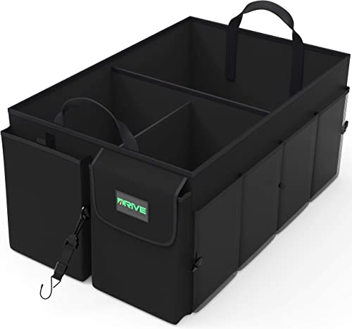 Drive Auto Products Car Cargo Trunk Organizer, Folding Compartments Are Easily Expandable To Suit Any In-vehicle Orga...