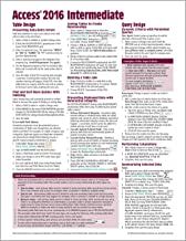 Microsoft Access 2016 Intermediate Quick Reference Guide - Windows Version (Cheat Sheet of Instructions, Tips & Shortcuts - Laminated Card)