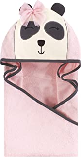 Hudson Baby Unisex Baby Animal Face Hooded Towel, Miss Panda 1-Pack, One Size