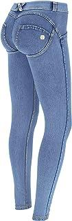 FREDDY Pantalone WR.UP® Vita Bassa Effetto Denim Lavaggio Chiaro