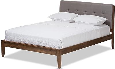 Baxton Studio 424-7380-Amz Abrielle Mid-Century Wood Platform Bed, King